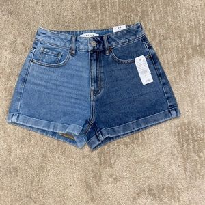 New MRSP $49.50 PACSUN mom Shorts Blue Size 24